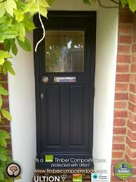 Cheap Exterior Doors Uk Black 1930s Solidor Timber Composite Door With Ultion Lock Home