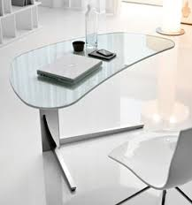 Small Glass Desks Zip Small And Beautiful A Compact Mobile Kidney Shaped Desk That