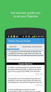 Resume Builder App For Android Perfect Resume Builder Android Apps On Google Play