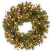 battery lights for wreaths national tree 24 norwood fir wreath with 50 warm white battery