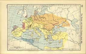 Map Of Europe And The Middle East by