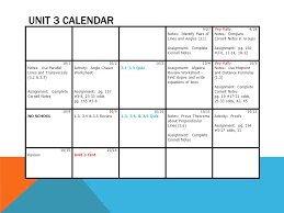 unit 3 calendar 9 27 notes identify pairs of lines and angles