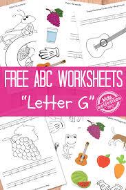 letter g worksheets free kids printables