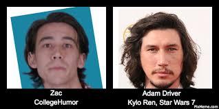College Humor Meme - zac from collegehumor looks like adam driver doppleganger