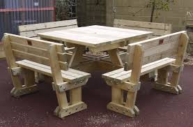 multi seat picnic table the wooden workshop oakford devon