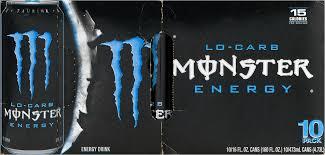 monster lo carb energy drink 10 pk 16 0 fl oz walmart com