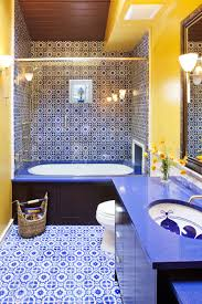 blue and yellow bathroom ideas blue and yellow moroccan inspired guest bathroom home