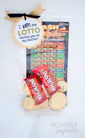 we won the lottery teacher appreciation gift with free printable
