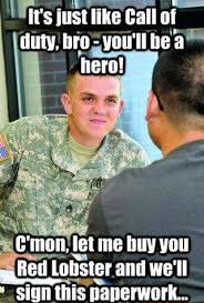 Army Recruiter Meme - scumbag ifunny