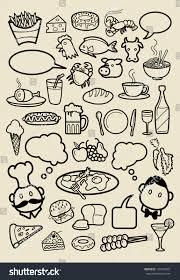 restaurant menu icon sketches food beverage stock vector 150473051