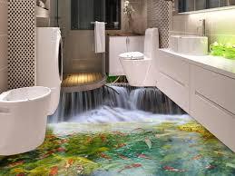 aliexpress com buy 3d floor sticker bathroom vinyl flooring roll