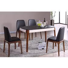 table avec 4 chaises table à manger avec 4 chaises tricolore noir blanc bois salle à