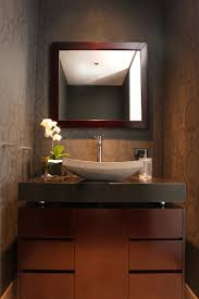 Powder Room Decorating Ideas Contemporary Room Powder Room Vessel Sink Design Ideas Modern Contemporary