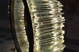 objet en metal table lamp original design metal led anneau by jérôme