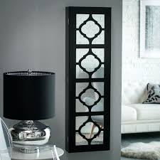Cherry Computer Armoire by White Mirrored Jewelry Cabinet Armoire Organizer Storage Wall