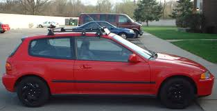 94 honda civic eg hatchback yakima rack on a honda civic hatchback
