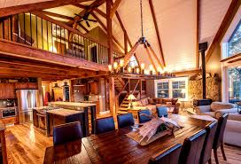 single floor living in a multilevel yankee barn
