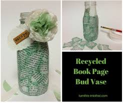 photo book pages how to make a decoupage bud vase with recycled book pages turn
