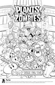 plants vs zombies zen garden coloring page for kids pinterest
