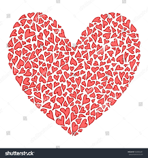 big heart many small hearts red stock vector 548006431 shutterstock