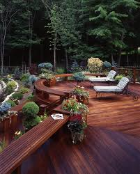 modern backyard deck deck traditional with wood planters wood