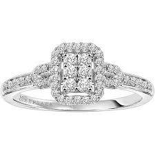 engagement ring walmart keepsake attraction 1 4 carat t w certified 10kt white