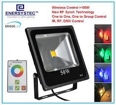wireless led outdoor flood lights 50w rgb led flood light rf wireless control 100 meters outdoor flood