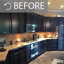 painting kitchen cabinets espresso before and after staining kitchen cabinets darker before and after