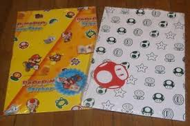mario wrapping paper wrapping paper gift wrapping supplies greeting cards party