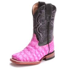 womens pink cowboy boots size 9 square toe kid s cowboy boots pfi