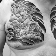 60 crane tattoo designs for men masculine bird ink ideas