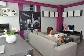 Grey Living Room Walls by Apartment Cheerful Grey Purple Ikea Small Apartment Living Room