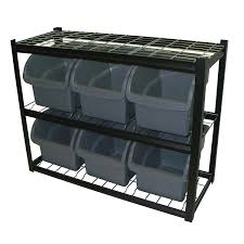 Storage Bins For Shelves by Edsal Industrial Bin Unit Shelving 6 Jumbo Bins Black