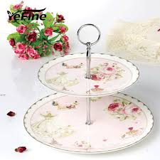 wedding plate aliexpress buy yefine bone china cake stand 2 3 tier candy