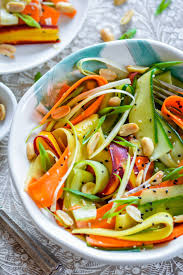sesame ribbon asian ribbon salad with lite sesame soy dressing