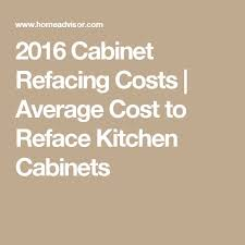 Kitchen Cabinet Cleaning Service Best 25 Cabinet Refacing Cost Ideas On Pinterest Cost Of New