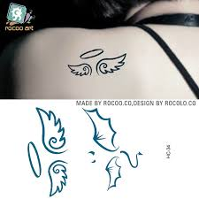 single water proof stickers fresh small wings tattoos