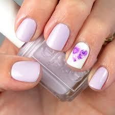 go polished valentine nail design purple rose heart