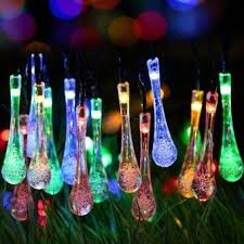 solar powered outdoor string lights shop online comfkey solar outdoor string lights water drop fairy
