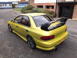 subaru yellow 1993 k subaru impreza wrx import turbo modified in high wycombe