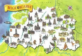 belgium in the map large detailed travel illustrated map of belgium belgium