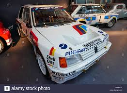 peugeot 205 rally 1985 peugeot 205 t16 group b rally car at the coventry transport