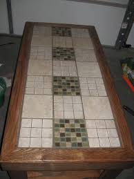 Kitchen Table Top Ideas by Great Kitchen Table With Tile Top And Create A Mosaic Tile