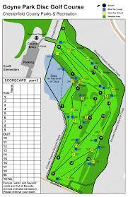 Map Of Richmond Va Goyne Park Disc Golf Course Professional Disc Golf Association