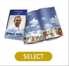 premium custom designs for printed funeral programs