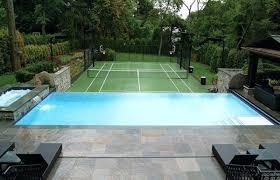 Small Backyard Pool Ideas Backyard Infinity Pool Overlooking Tennis Court Swimming Pool