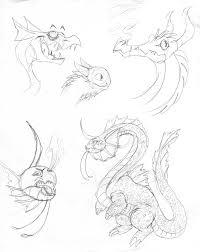 stylized dragon sketches by inkblot rabbit on deviantart
