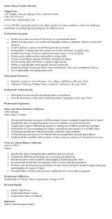 Resume Samples For Teacher by Dance Resume Examples Medical Director Resume Sample Are Examples