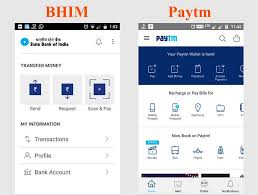 bhim app vs paytm which is a better payment app bhim upi and