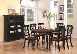 black and wood oval cherry wood dining table best gallery of tables furniture